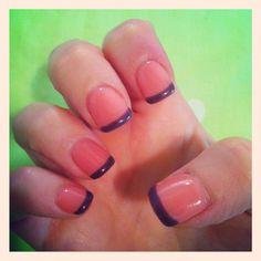 My beautiful pink n purple gel nails