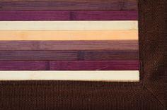 Detalle alfombra bambú Peipus.  Las alfombras de bambú son ecológicas y resistentes gracias a su fibra natural de rápido crecimiento.  Fáciles de lavar, anti-deslizantes, costuras reforzadas y resistentes al agua. #alfombras #bambú #decoración