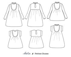 b3184a1ed215c Patron de couture Top   Robe IDA PDF 3-12A – ikatee