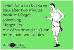 This must be why I do not run. I love funny things that make me laugh.