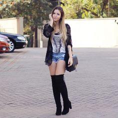 LeFer Blog - Fernanda Dallan: Look do dia - Bota Over Knee