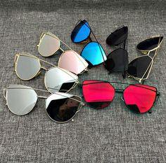 6b1e4cc3955 Newest Fashion Cat Eye Sunglasses Women Twin-Beams Stylish Lady Flat Plane  New Brand Designer