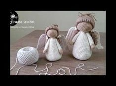Ángel a crochet parte I - YouTube
