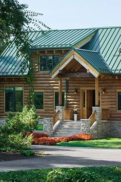 1000 images about roof colors on pinterest metal roof for Log cabin roof design