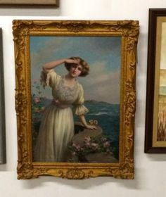 """Fine Francois Martin Kavel 19th Century French Painting Of A Lady  Dealer #99  23"""" Wide x 33"""" High   $3850  Lucas Street Antiques Mall 2023 Lucas Dr.  Dallas, TX 75219  Located close to Da"""