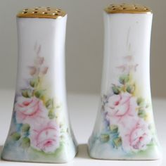 Porcelain Limoges Style Salt & Pepper Shakers