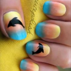 Dolphin Nails -- really cute for summer (have tried)