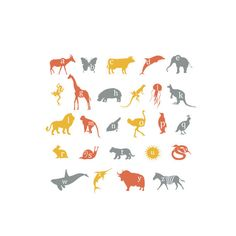 Wall Decals Alphabet Animals by SimpleShapes on Etsy https://www.etsy.com/listing/83863869/wall-decals-alphabet-animals