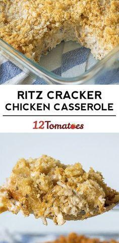 Creamy Ritz Chicken Casserole   12 Tomatoes More