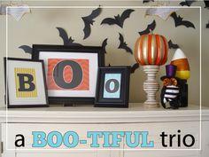 A Boo-tiful Trio {Free Download} at Kiki and Company #free #printable #halloween