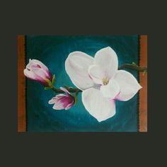 Magnolia schilderij, painting  for sale @ www.creativeartbyjessica.nl #magnolia #magnoliapainting #magnolias #schilderij #schilderijen #art #kunst #painting #bohemian #bohostyle #hippie #hippiestyle #hippiechic