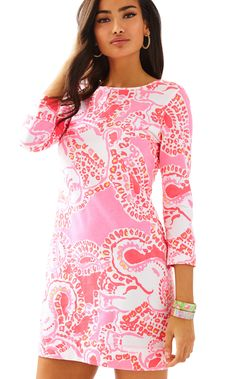 MARLOWE DRESS - HOT CORAL TRUNK IN LOVE BY LILLY PULITZER