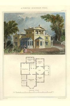 Pompeii Suburban Villa. High quality vintage art reproduction by Buyenlarge. One of many rare and wonderful images brought forward in time. I hope they bring you pleasure each and every time you look