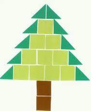 Afbeeldingsresultaat voor kerstboom knutselen blokjes