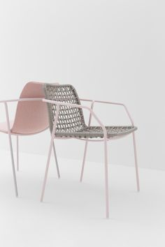 Fabric chair with armrests SEY - @billiani0052