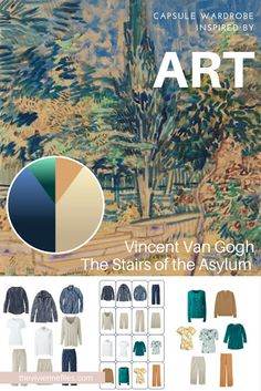 How to Accent a Denim and Khaki Capsule Wardrobe: Start with Art - The Stairs of the Asylum by Van Gogh