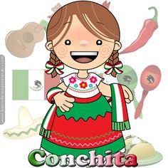 BANCO DE IMAGENES GRATIS: 100 postales de muñequitas mexicanas con nombres de…