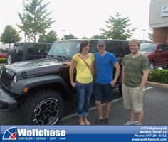 #HappyAnniversary to Cody Cates on your 2013 #Jeep #Wrangler from Rodney Gool at Wolfchase Chrysler Jeep Dodge!