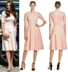 Lela Rose is taking pre-orders for the pink twill dress Kate wore in Cornwall. They are offering the dress at the sale price of $777 and it is available in all sizes. Delivery is expected to be 8-12 weeks.
