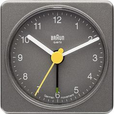 German Quartz Analog Braun Classic Quiet Grey Clock Home Kitchen Time Kitchen Grey Clocks, Travel Alarm Clock, Kitchen Time, Desk Clock, Desk With Drawers, Home Furniture, Quartz, House Styles, Classic
