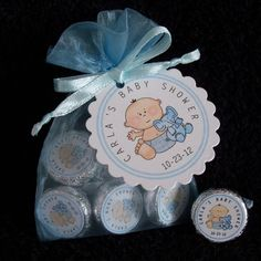 Personalized Hershey Kiss Baby Shower Favor Kit blue by susiedees, $75.00
