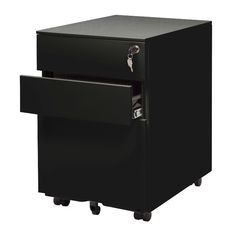 Features:  -Locking file storage accommodates standard sized files.  -Wheels.  -Office collection.  Product Type: -Vertical filing cabinet.  Style (Old): -Contemporary.  Locking: -Yes.  Primary Materi