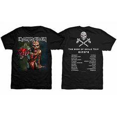 Iron Maiden Men's Tee: Book of Souls European Tour 2016 Wholesale Ref:IMTEE50MB