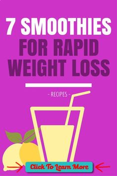 7 Awesome Smoothie Recipes For Rapid Weight Loss #weightloss #diet www.youtube.com/... #health #fitness #weightloss #healthyrecipes #weightlossrecipes