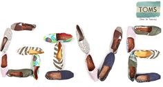 TOMS gives one pair of shoes for every pair bought to a person who needs them.