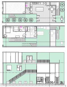 Housing design, Borneo-Sporenburg, Amsterdam by RISD portfolios.