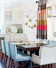 Love the colors, dining room