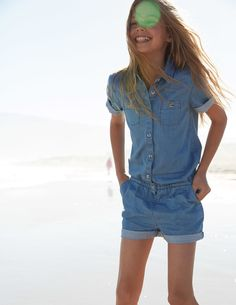 Chambray Playsuit | Mini Boden