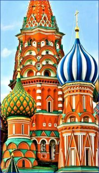 Saint Basil's Cathedral built by Ivan the Terrible, 16th Century (91 pieces)