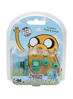 Unique earbuds with your favorite Adventure Time character! Comfort, style and sound! Includes extra earbuds. Perfect for the iPod iPad iTouch Zune and much more! Officially Licensed and Brand New In