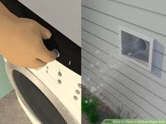 how to clean dryer vent inside wall