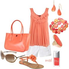 Coral color pop