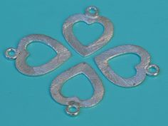 Zilver+hart+bedeltje+van+beaddutch+op+DaWanda.com