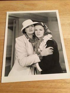 "DEANNA DURBIN, KAY FRANCIS  - Vintage 8"" x 10"" Black & White Glossy Photo"