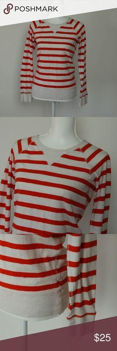 J. Crew Orange Stripe Popover Classic J. Crew. Orange and white stripes, long sleeve, 100% cotton and 100% cute! J. Crew Tops Tees - Long Sleeve