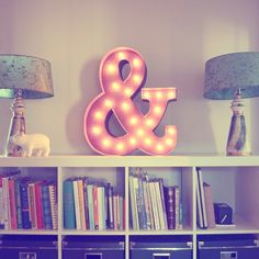"Rustic 24"" Ampersand ""&"" Sign Marquee Light"