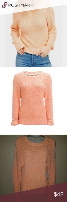 Free People Orange Sweater Top Free People size XS Sweater orange long sleeve sweater my photos are true color Free People Sweaters