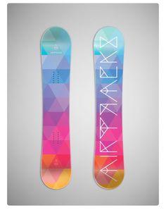 Smooth coloured ski