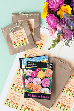 DIY Baby Shower Favor with Seed Packets!