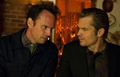 Jusitifed's Boyd Crowder and Raylan Givens - both of them huge inspiration behind my own characters of Beau Bennett and Ethan Everett in 'Unbreakable'.