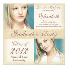 Elegant Grunge Graduation Party Invitations