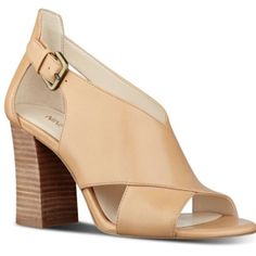 Nine West Boland Open Toe In Nature Leather