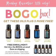Grab this awesome BOGO Box Today! Enrollment fee is waived with this purchase - message me and I can help with this amazing box or go to my.doterra.com/womenshealth