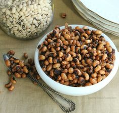 Crispy black-eyed peas with sea salt-A Healthy Snack