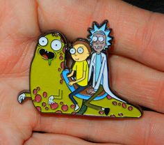 Slippery Stairs Pin Rick and Morty Free Shipping