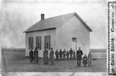 One-room School House, Sedgwick County,  Kansas, between 1870s and 1890s